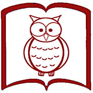 Kontur książki. W środku rysunek sowy.