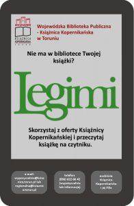 obrazek promujący Legimi - skorzystaj z oferty Książnicy Kopernikańskiej i przeczytaj książkę na czytniku