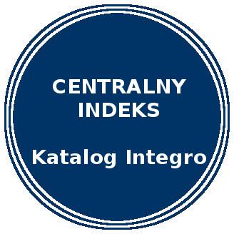Niebieskie koło. Napis: Centralny Indeks Katalog Integro